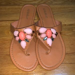 Olivia Miller Beaded Thong Sandals